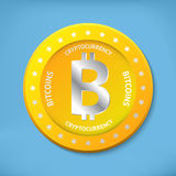 Ícone de Bitcoin Fotografia de Stock