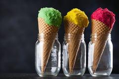 Cone de gelado Fotos de Stock