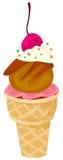 Cone de gelado ilustração stock