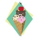 Cone de gelado Fotos de Stock Royalty Free