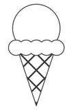 Cone de gelado ilustração do vetor