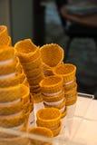 Cone de gelado Crunchy Fotos de Stock Royalty Free
