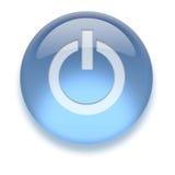 Ícone de ligar/desligar do Aqua Imagem de Stock