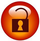 Ícone destravado do Web do cadeado Imagens de Stock Royalty Free