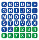 Ícone do alfabeto Fotografia de Stock Royalty Free