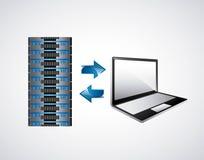 Ícone do alojamento web e do portátil Projeto da tecnologia Gráfico de vetor Foto de Stock