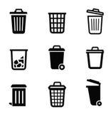 Ícone do balde do lixo Imagens de Stock