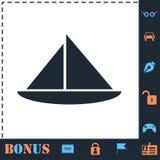 ?cone do barco de naviga??o horizontalmente ilustração royalty free