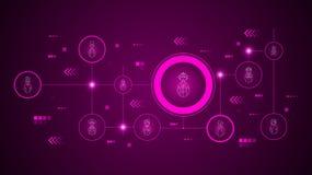 ?cone do bombeiro dos avatars Do grupo dos Avatars ilustração royalty free