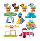 Ícone do campo de jogos do parque dos desenhos animados Fotografia de Stock