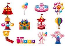 Ícone do campo de jogos dos desenhos animados Foto de Stock Royalty Free