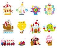 Ícone do campo de jogos dos desenhos animados Foto de Stock