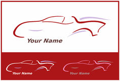 Ícone do carro no vermelho para o projeto do logotipo Foto de Stock Royalty Free