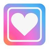 Ícone do coração na cor na moda Imagem de Stock