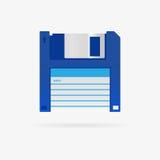 Ícone do disco flexível do vetor Imagem de Stock Royalty Free
