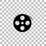?cone do filme do carretel horizontalmente ilustração do vetor