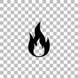 ?cone do fogo liso ilustração royalty free