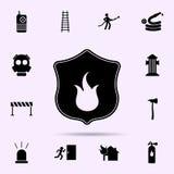 ?cone do fogo do protetor Grupo universal dos ícones do bombeiro para a Web e o móbil ilustração stock