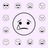 ?cone do grito Grupo universal dos ?cones de Emoji para a Web e o m?bil ilustração stock