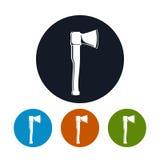 Ícone do machado, ícone agrícola da ferramenta Fotografia de Stock