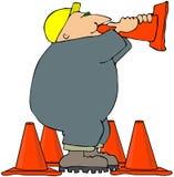 Cone do megafone ilustração royalty free