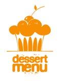 Ícone do menu da sobremesa. Fotos de Stock Royalty Free