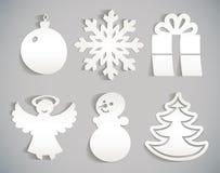 Ícone do Natal cortado do papel Imagens de Stock