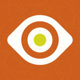 Ícone do olho (vetor) Fotografia de Stock Royalty Free