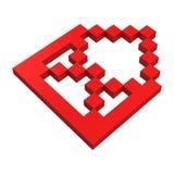 ícone do pixel do correio 3d Imagem de Stock Royalty Free
