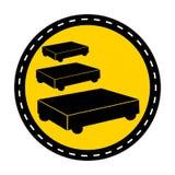 ?cone do PPE Isolado do sinal do símbolo do estacionamento do trole da pintura no fundo branco, ilustração do vetor ilustração do vetor