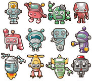 Ícone do robô dos desenhos animados Fotografia de Stock