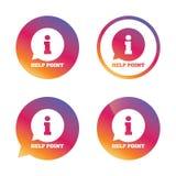 Ícone do sinal do ponto da ajuda Símbolo da informação Fotografia de Stock