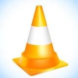 Cone alaranjado do tráfego ilustração royalty free
