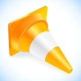 Cone do tráfego isolado em um branco ilustração royalty free