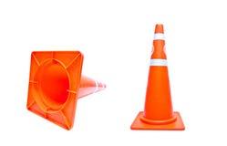 Cone do tráfego isolado Fotografia de Stock Royalty Free