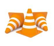 Cone do tráfego isolado no branco Foto de Stock