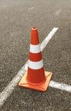 Cone do tráfego na rua Imagens de Stock