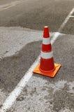 Cone do tráfego na rua Fotos de Stock