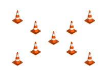 Cone do tráfego para estradas do uso ilustração do vetor