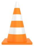 Cone do tráfego rodoviário isolado no fundo branco Imagem de Stock Royalty Free