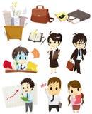 Ícone do trabalhador dos desenhos animados Imagem de Stock