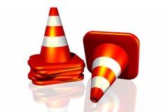 cone do tráfego 3d Fotos de Stock