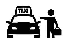 Ícone do táxi Fotos de Stock