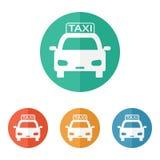 Ícone do táxi Imagens de Stock
