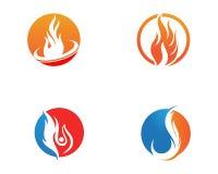 ?cone do vetor de Logo Template da chama do fogo ilustração stock