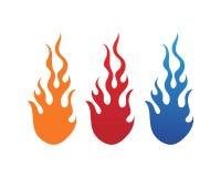 ?cone do vetor de Logo Template da chama do fogo ilustração do vetor