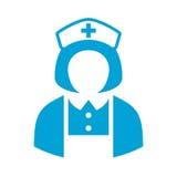 Ícone do vetor do avatar da enfermeira do hospital Foto de Stock Royalty Free