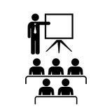 Ícone do vetor do professor e da audiência Imagem de Stock Royalty Free