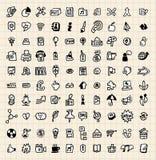 ícone do Web da tração de 100 mãos Foto de Stock Royalty Free