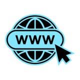 ?cone do Web site Cores azuis e pretas Vetor ilustração royalty free